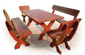 Meble drewniane - Komplet sosnowy | symbol katalogowy M1