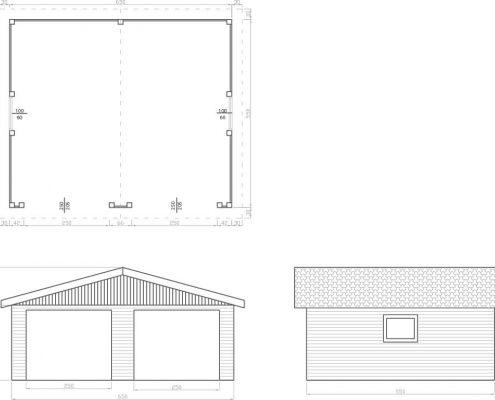 Garaż dwustanowiskowy d15-rys-tech